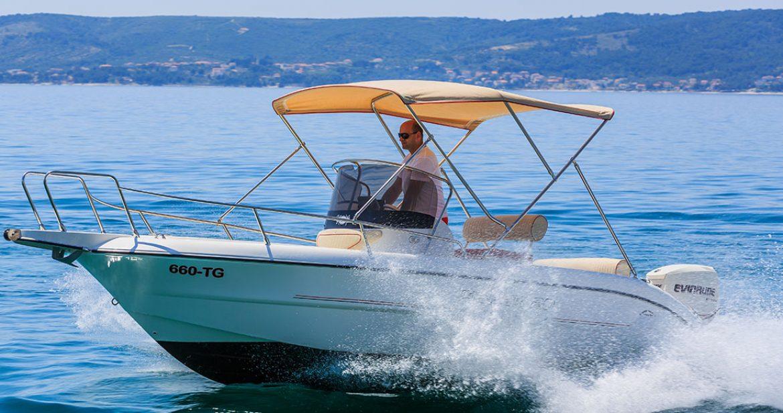 fisher 20 deck for rent in split mayer charter On fishing equipment rental near me